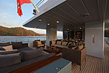 Only Now yacht aft deck