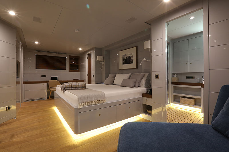 Only Now yacht stateroom