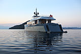 Only Now yacht stern