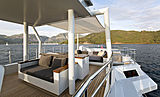 Only Now yacht sundeck