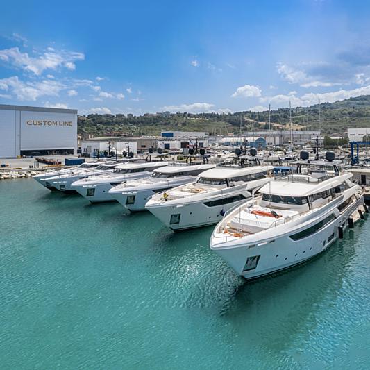 Custom Line shipyard in Ancona