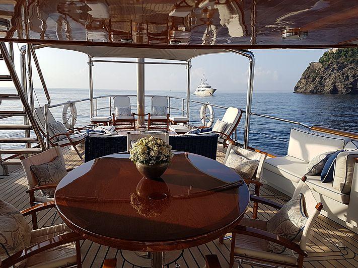 Mikado yacht deck