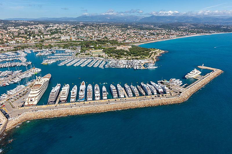 Port Vauban aerial view
