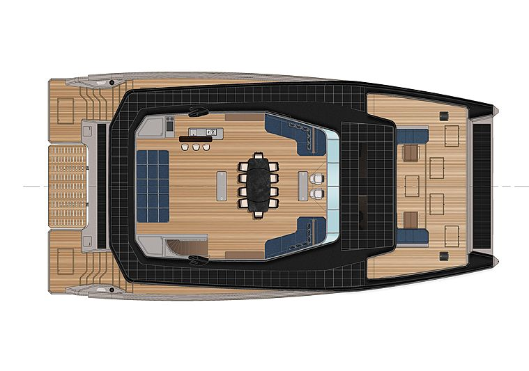 Ocean Eco 90 yacht by Alva Yachts general arrangement