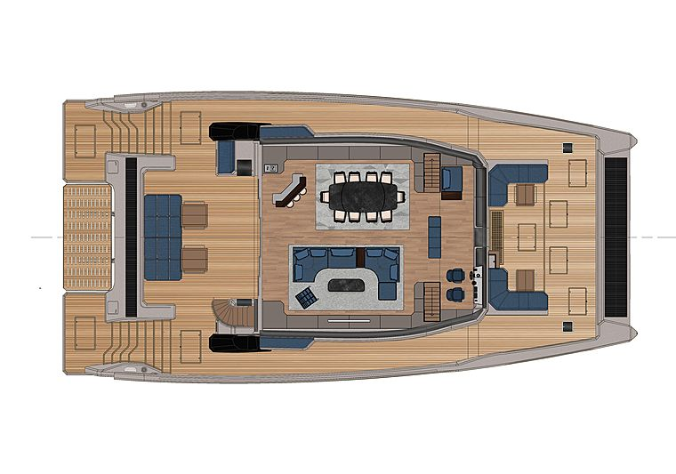 OceanEco 90 yacht by Alva Yachts general arrangement