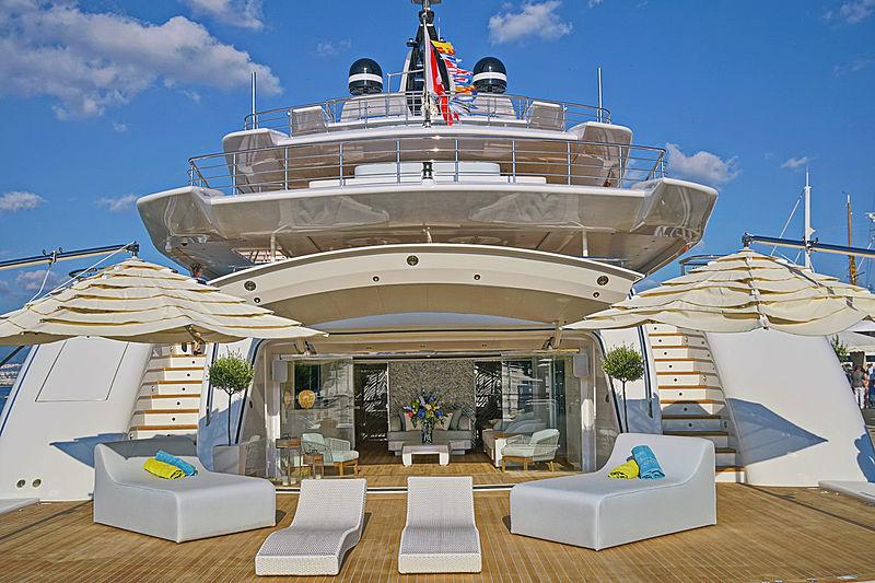 O'Pari yacht aft decks