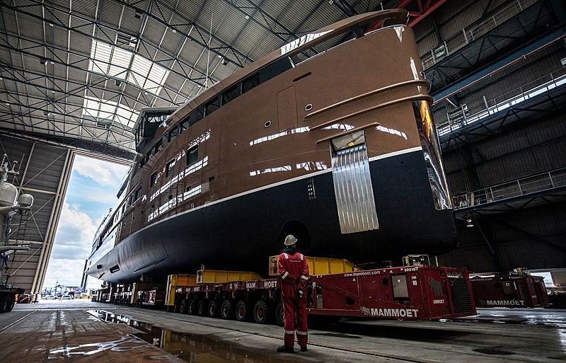 La Datcha yacht launch at Damen Yachting