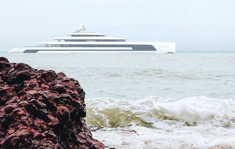 Kiwa yacht concept by Isaac Burrough