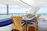 Island Heiress yacht main aft deck