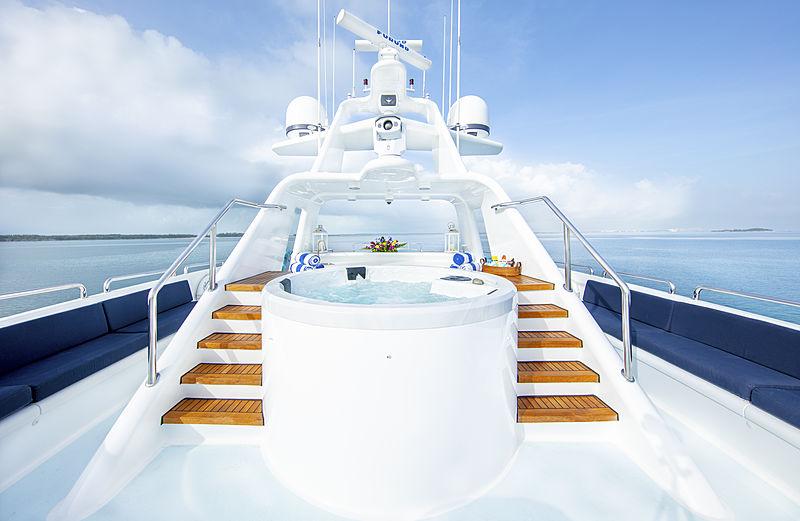 Island Heiress yacht sundeck