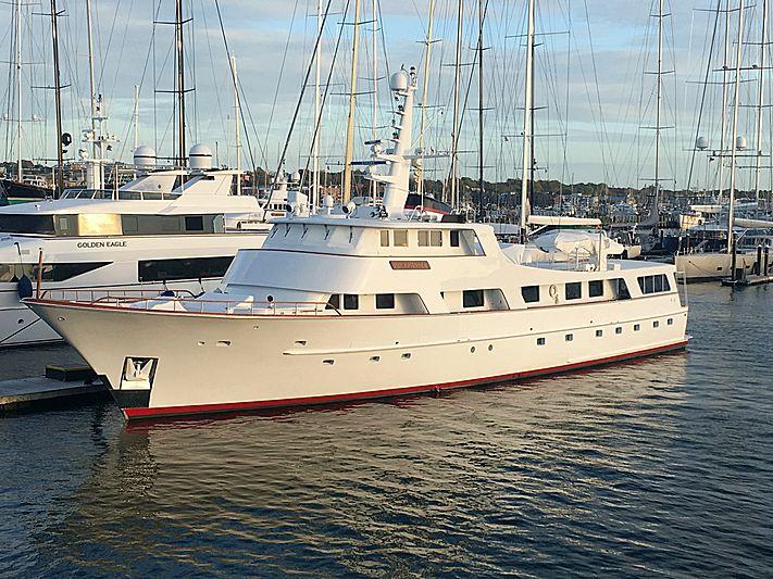Buckpasser yacht in marina