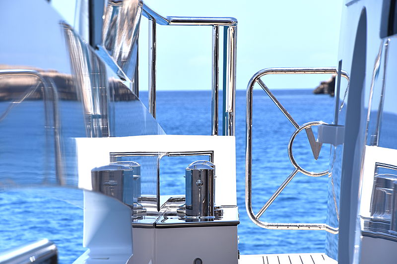 Sea Story yacht exterior detail