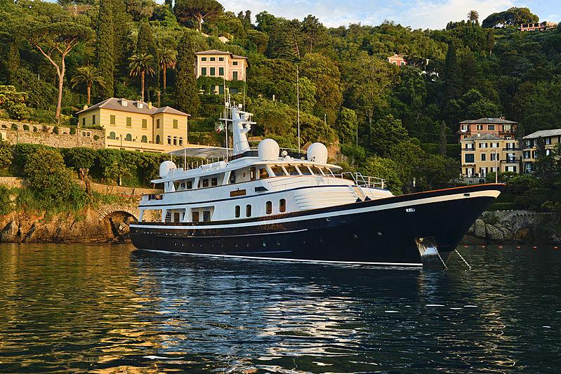 Atlantic Goose yacht anchored