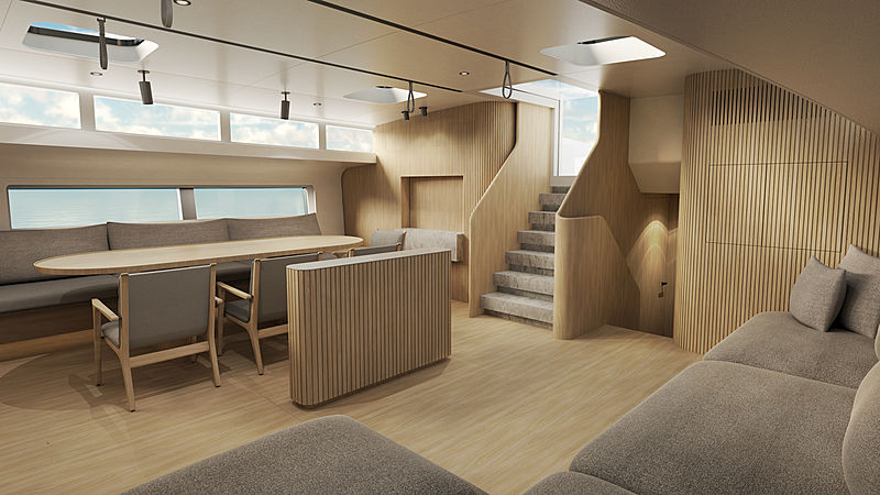 YYachts Y9 yacht Paula interior design