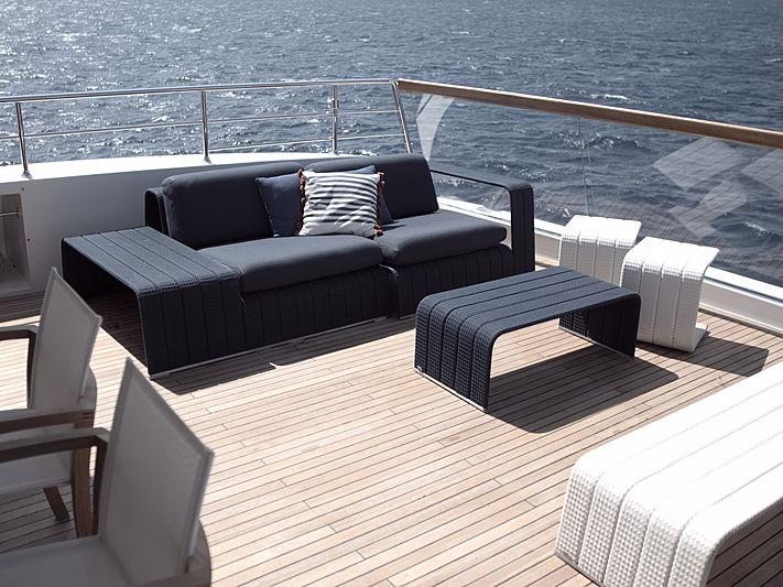 Piacere yacht aft deck