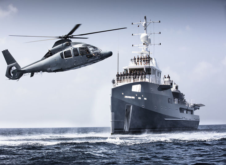 6711 Damen Fast Support Vessel (crew with helicopter)