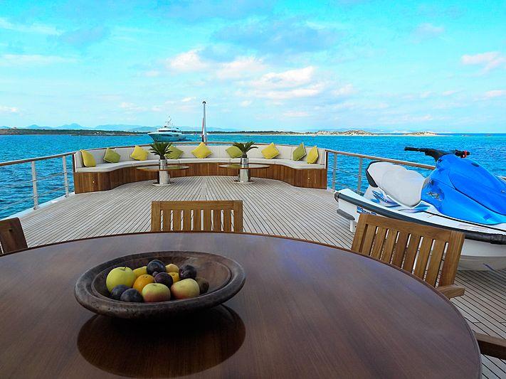 Trafalgar yacht deck