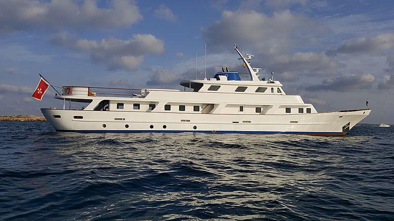 Trafalgar yacht anchored