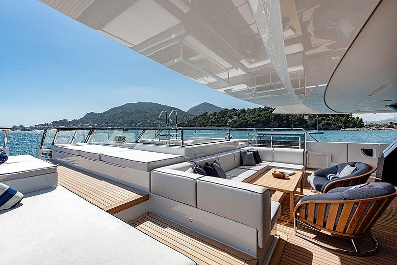 Lady Lena yacht main aft deck
