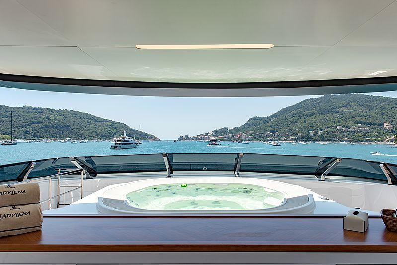 Lady Lena yacht sundeck