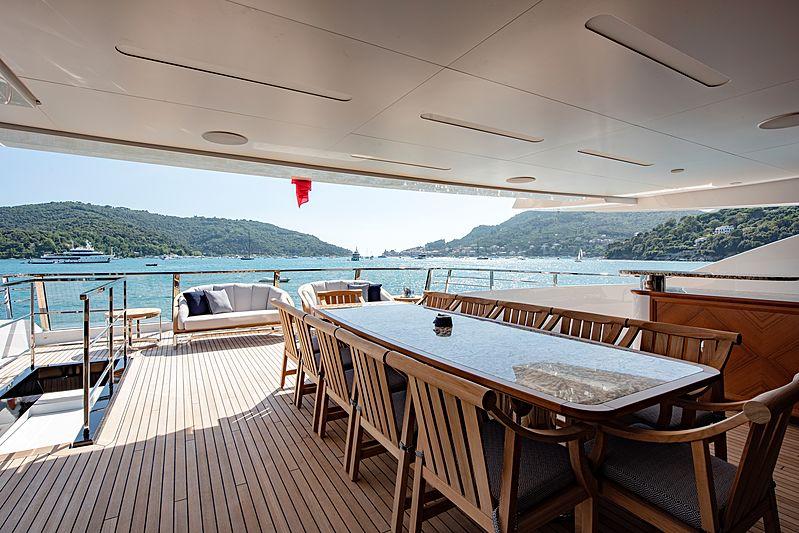 Lady Lena yacht upper aft deck