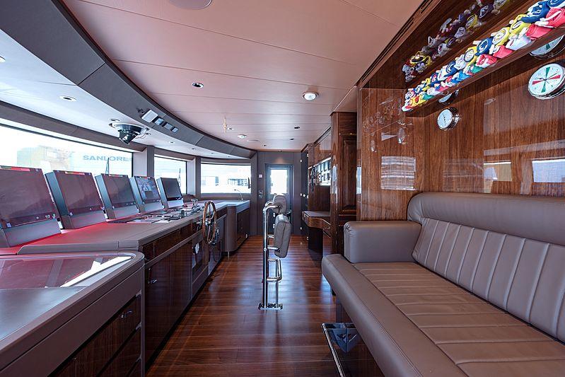 Lady Lena yacht wheelhouse