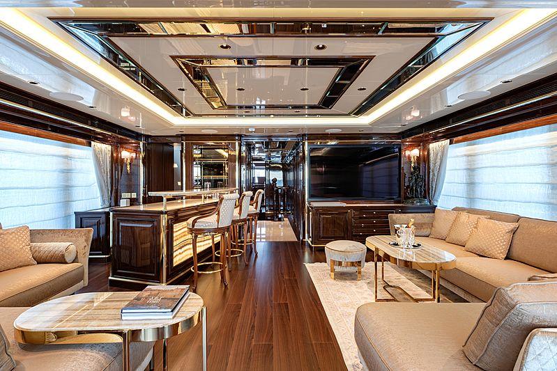 Lady Lena yacht upper deck saloon