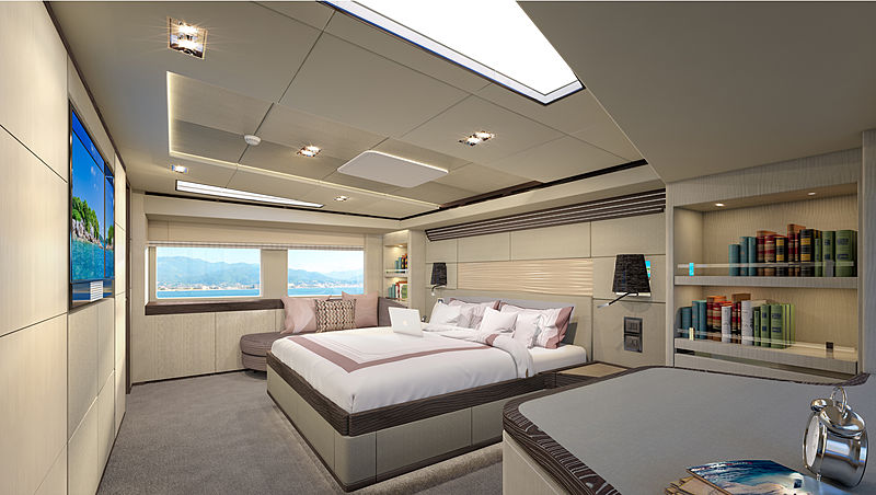 Majesty 100/08 yacht interior design