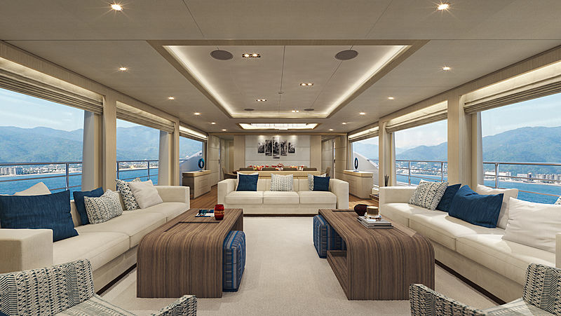 Majesty 100/09 yacht interior design