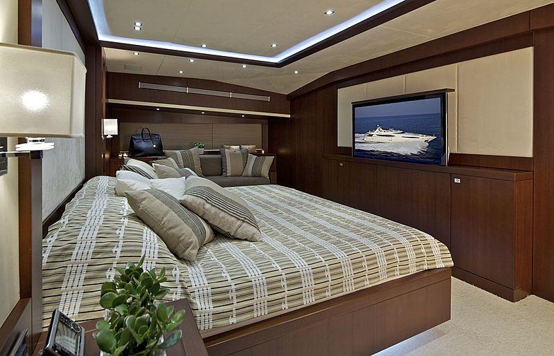 Sanjana yacht stateroom