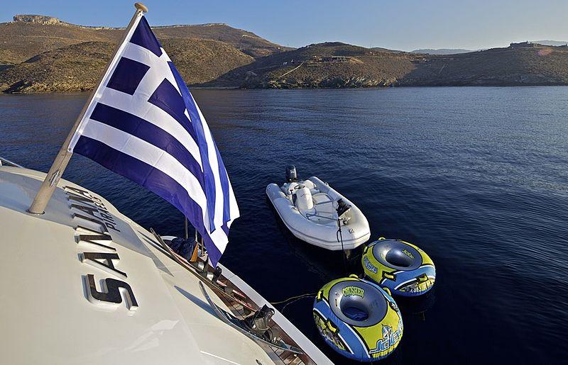 Sanjana yacht stern