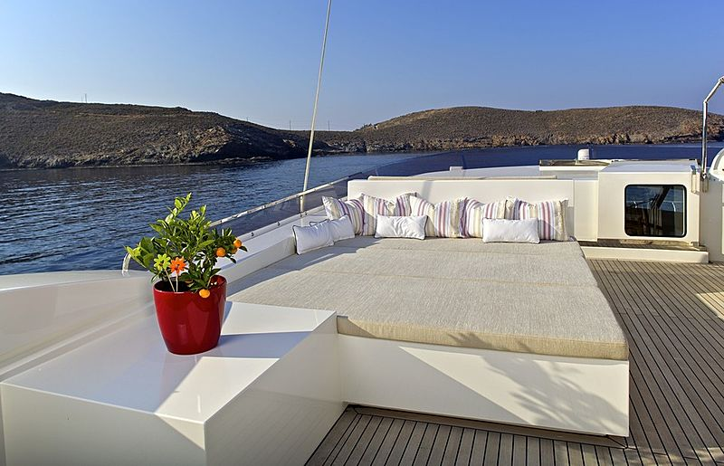 Sanjana yacht sundeck