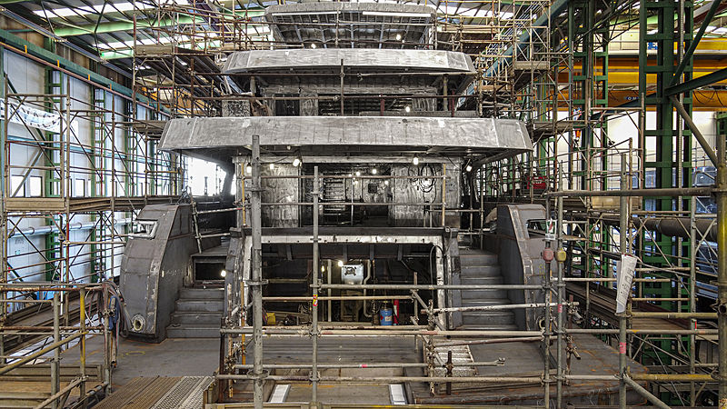 Rosetti 38m EXP yacht in build in Ravenna