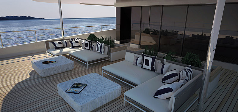 Rosetti 38m EXP yacht exterior design
