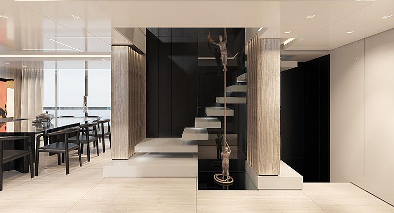 Rosetti 38m EXP yacht interior design