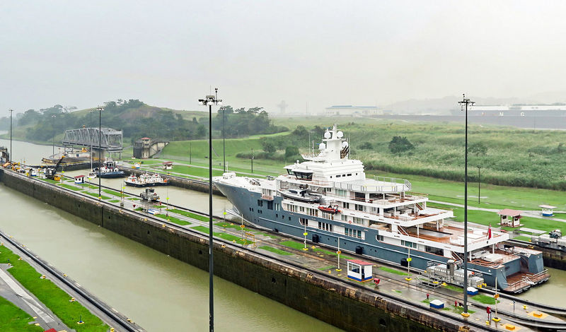 Ulysses passing through the Panama Canal