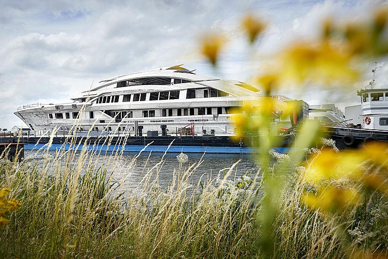 Heesen Project Cosmos yacht in build