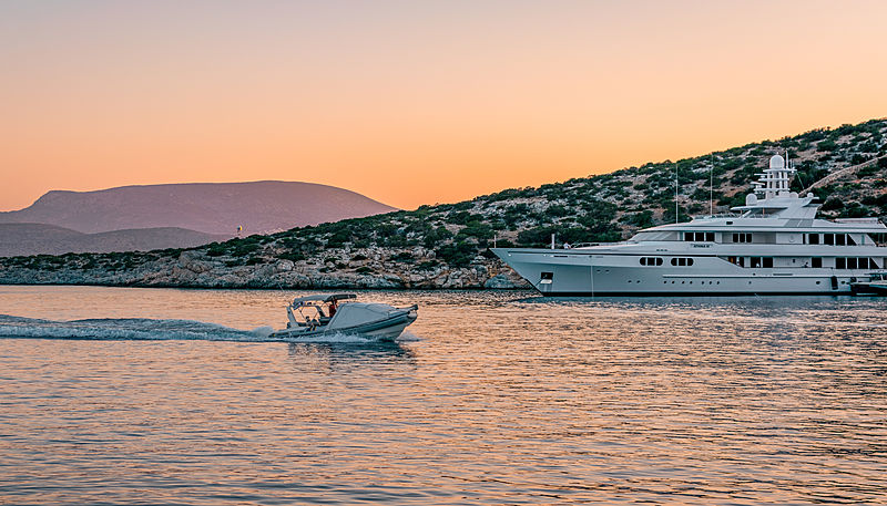 Athina III yacht by Feadship in Schinoussa, Greece