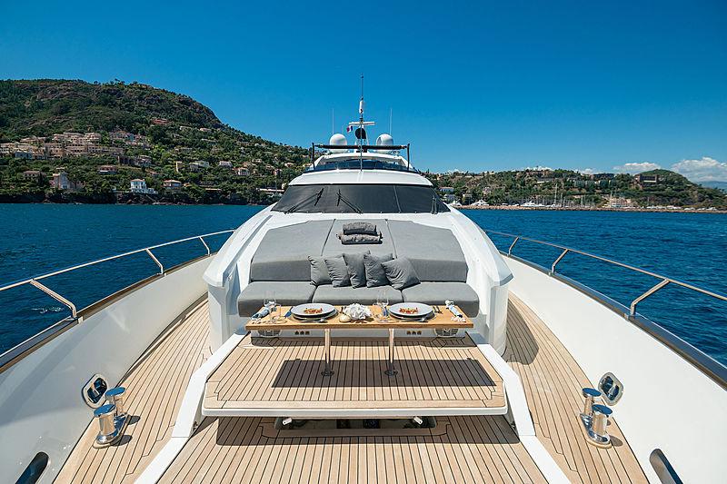 Quasar yacht foredeck