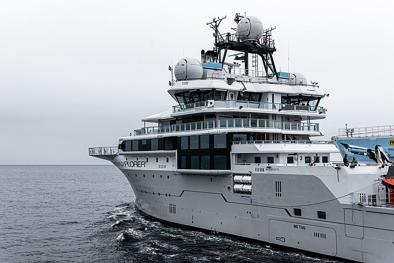 OceanXplorer research vessel on the North Sea