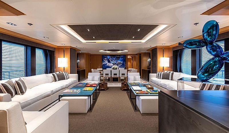 Deja Too yacht saloon