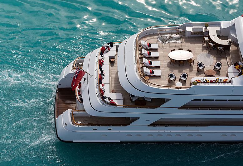 Flag yacht decks
