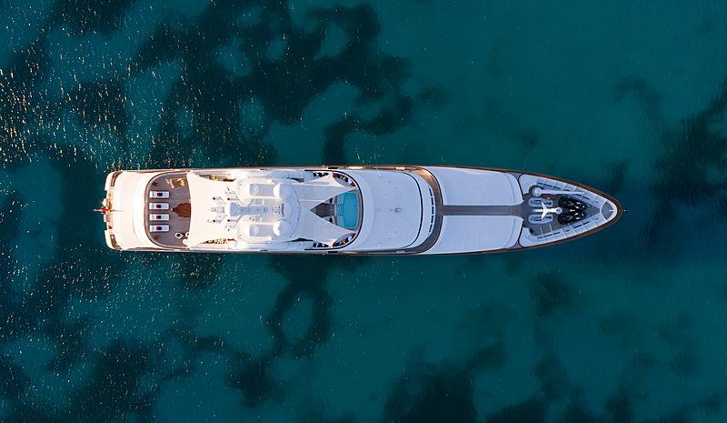 Flag yacht aerial