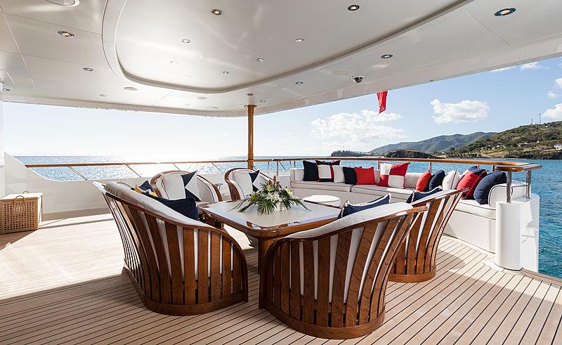 Flag yacht main aft deck