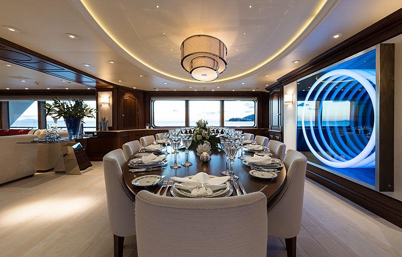 Flag yacht dining room