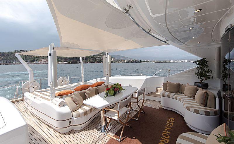Fatamorgana yacht aft deck