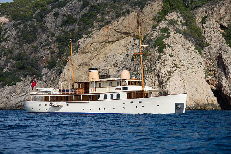 Fair Lady yacht anchored