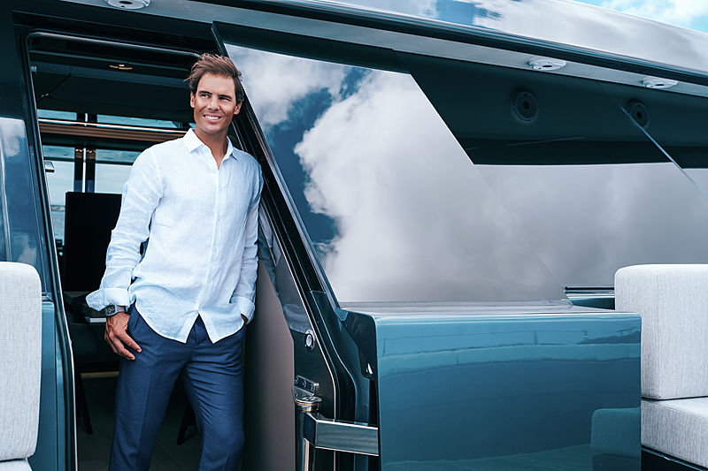 Rafael Nadal on Great White yacht by Sunreef Yachts