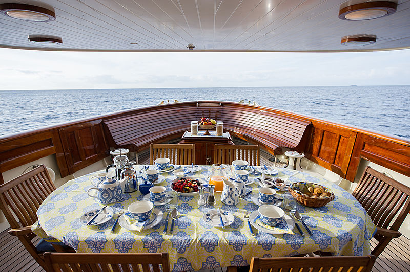 Fair Lady yacht deck