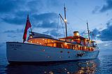 Fair Lady yacht anchored at night